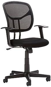 mesh mid back chair. amazonbasics mid-back mesh office chair mid back m