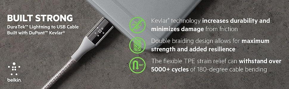 Belkin DuraTek Lightning to USB Cable