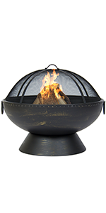 Amazon.com : Best Choice Products Hex Shaped Fire Pit for ... on Zeny 24 Inch Outdoor Hex Shaped Patio Fire Pit Home Garden Backyard Firepit Bowl Fireplace id=22538