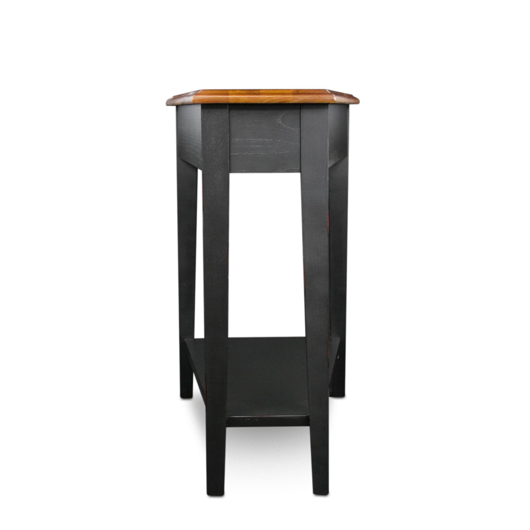Amazon Com Leick Recliner Wedge End Table Black Kitchen