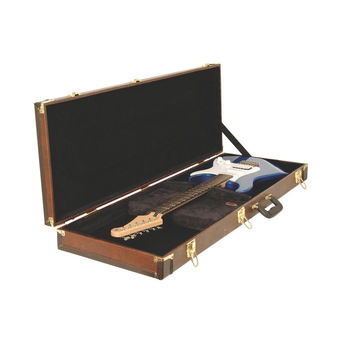 on stage gce6000s electric guitar hard case snakeskin musical instruments. Black Bedroom Furniture Sets. Home Design Ideas