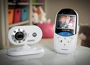 Motorola MBP27T 2.4 GHz Digital Video Baby Monitor with 2.4-Inch Color LCD and Touchless Thermometer