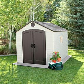 Amazon.com : Lifetime 6405 Outdoor Storage Shed with ...