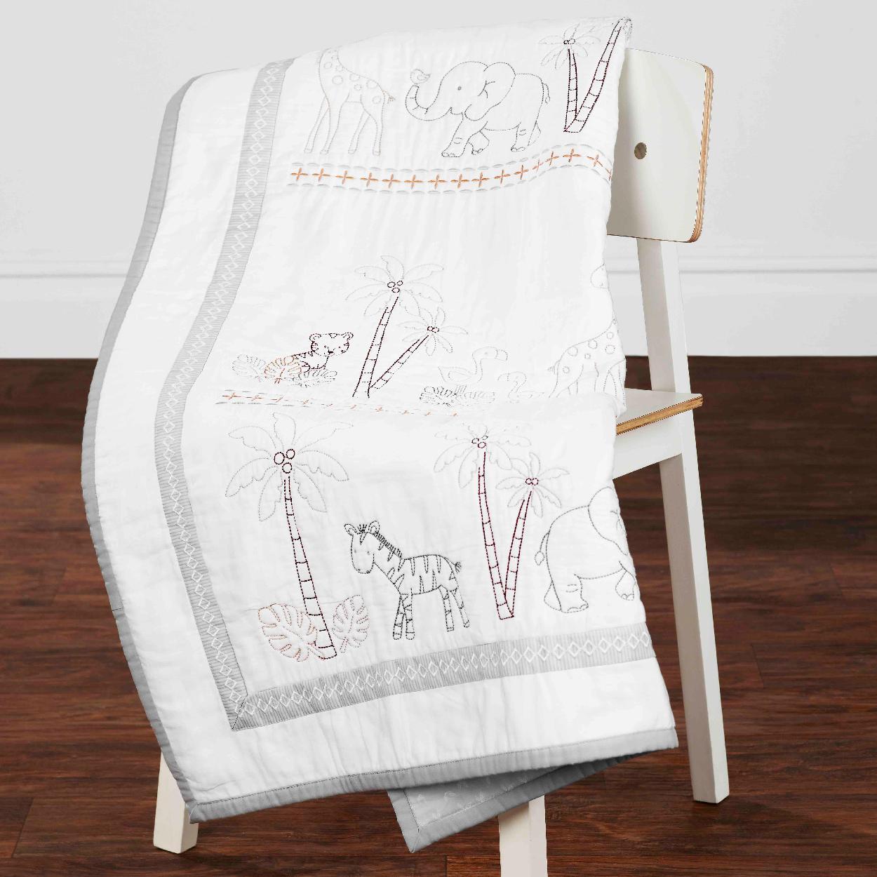 Amazon Com Just Born Animal Kingdom 3 Piece Crib Bedding