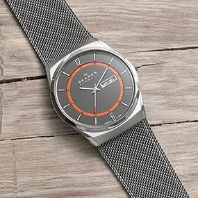 Amazon.com: Skagen Men's SKW6007 Melbye Grey Titanium Mesh Watch