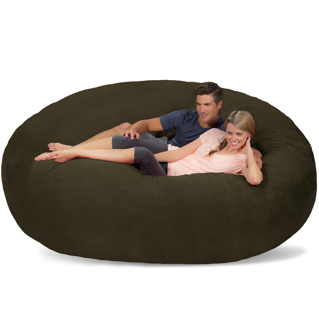 Amazon Com Comfy Sacks 8 Ft Memory Foam Bean Bag Chair