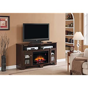 Amazon.com: ClassicFlame 26MM4995-NC72 La Salle TV Stand for TVs ...