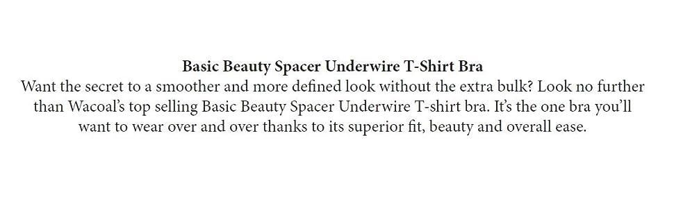 Amazon.com: Wacoal Womens Basic Beauty Contour T-Shirt Bra: Clothing