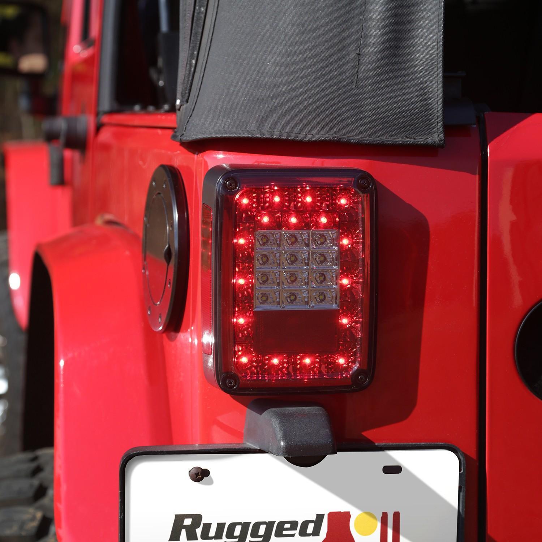 Rugged Ridge LED Smoke Tail Light Set