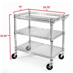 Superb Seville Classics Heavy Duty Commercial Grade Utility Cart Design