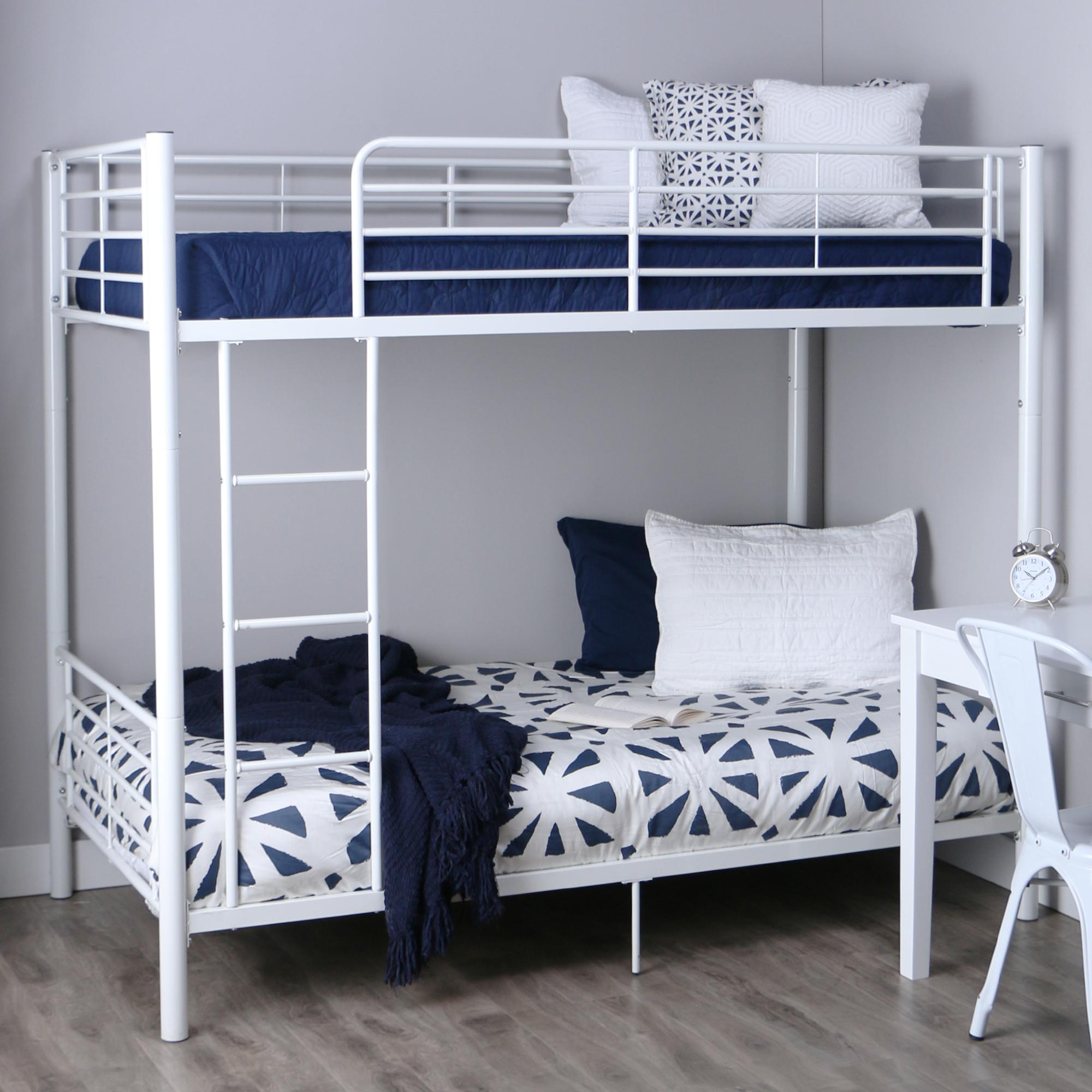 Amazon Com Walker Edison Twin Over Twin Metal Bunk Bed