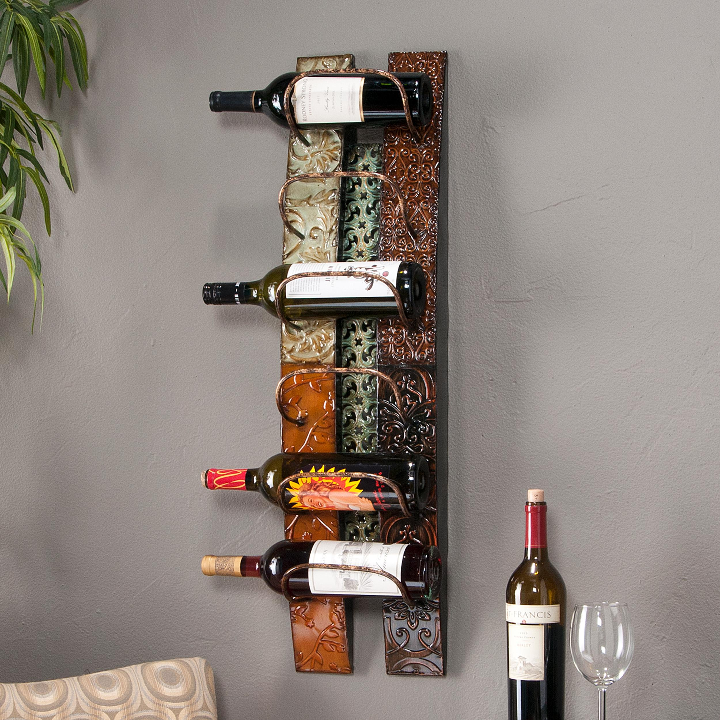 Amazon Southern Enterprises Adriano 6 Wine Bottle Wall Mount