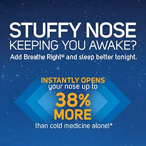 Opens nose 38% more to relieve nasal congestion and help you sleep better.