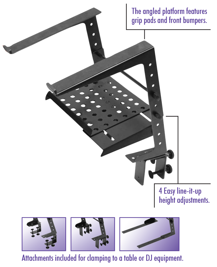 Amazon Com On Stage Lpt6000 Multi Purpose Laptop Stand