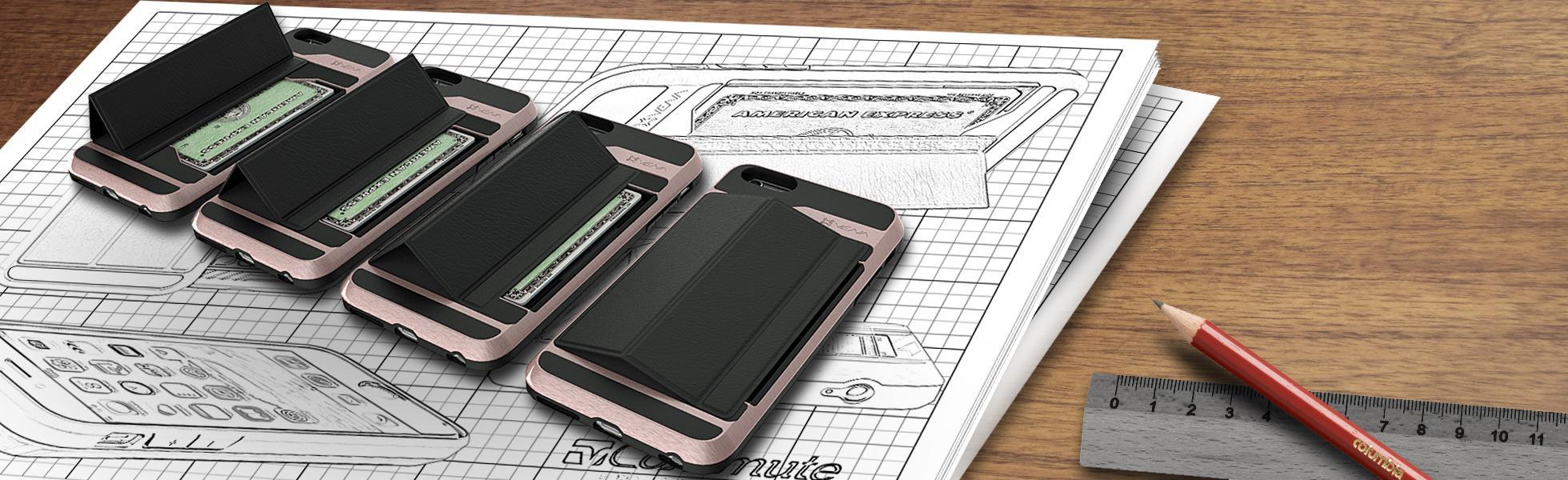 Amazon.com: iPhone 6S Wallet Case, Vena [vCommute][Drop