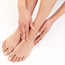 or rinse feet to remove any excess hard skin and thoroughly dry feet