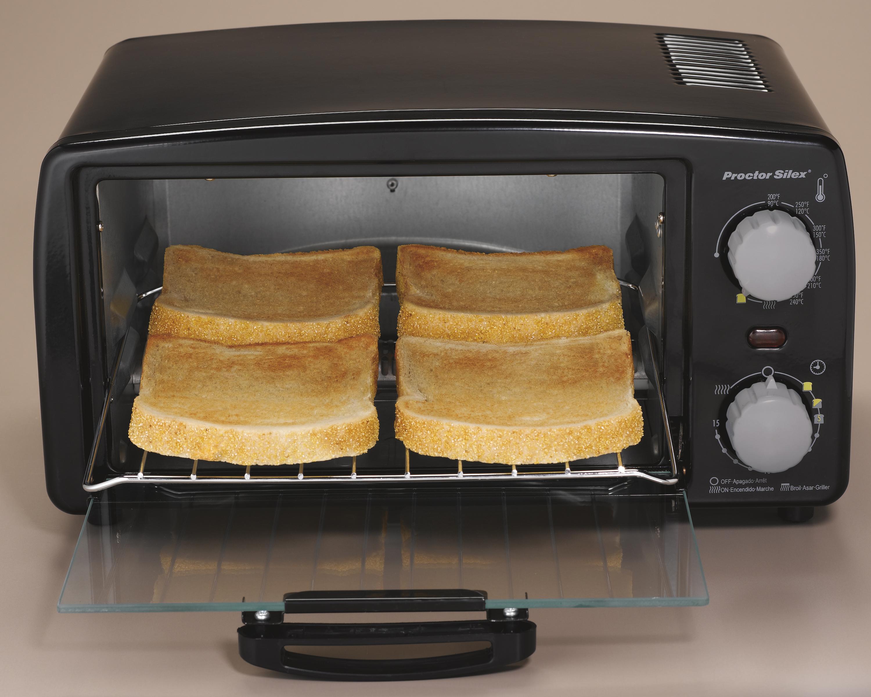 Amazon.com: Proctor Silex 4-Slice Toaster Oven, Black (31118R ...