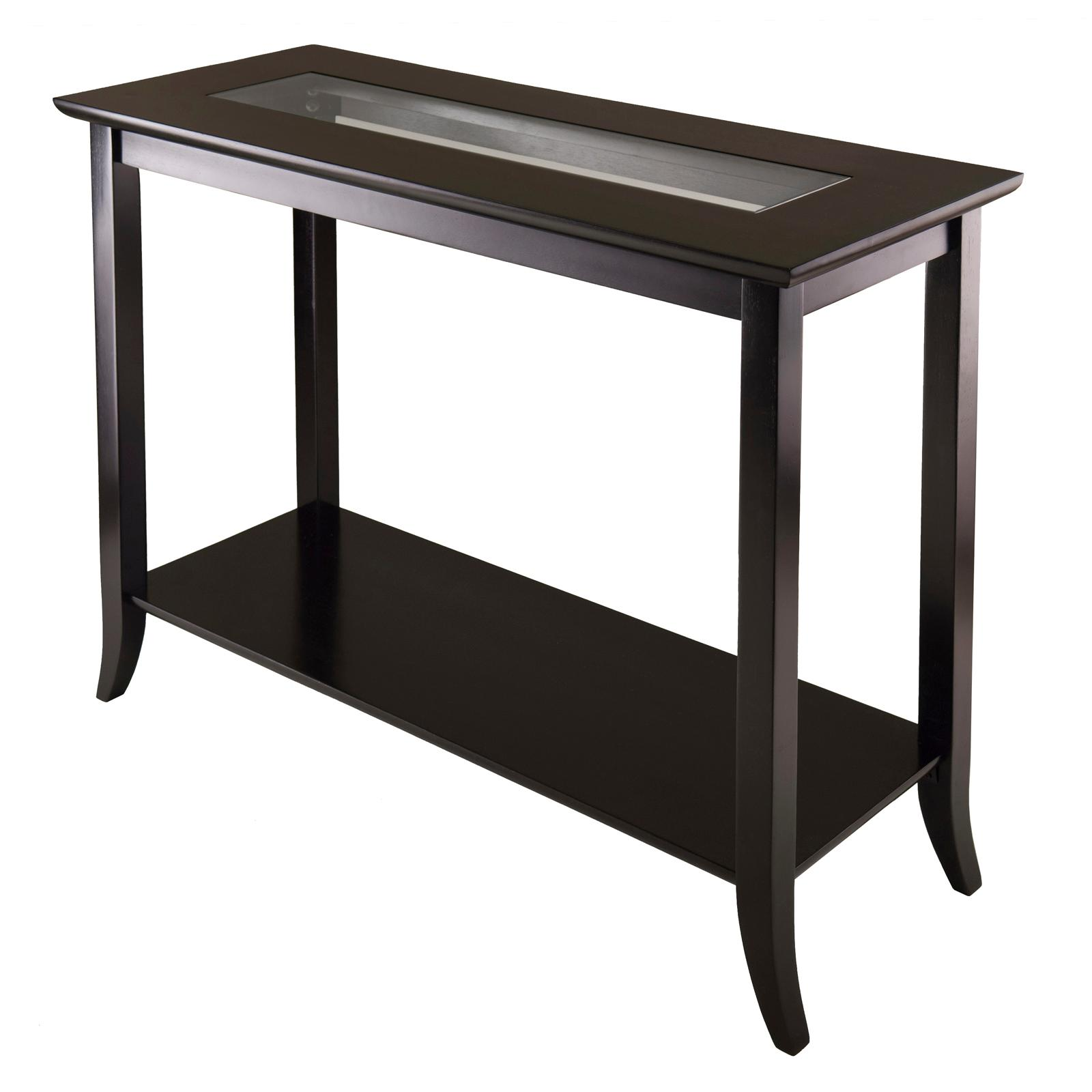 Amazon Winsome Genoa Rectangular Console Table with Glass And