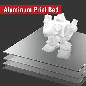 new aluminum print bed, distributing heat evenly