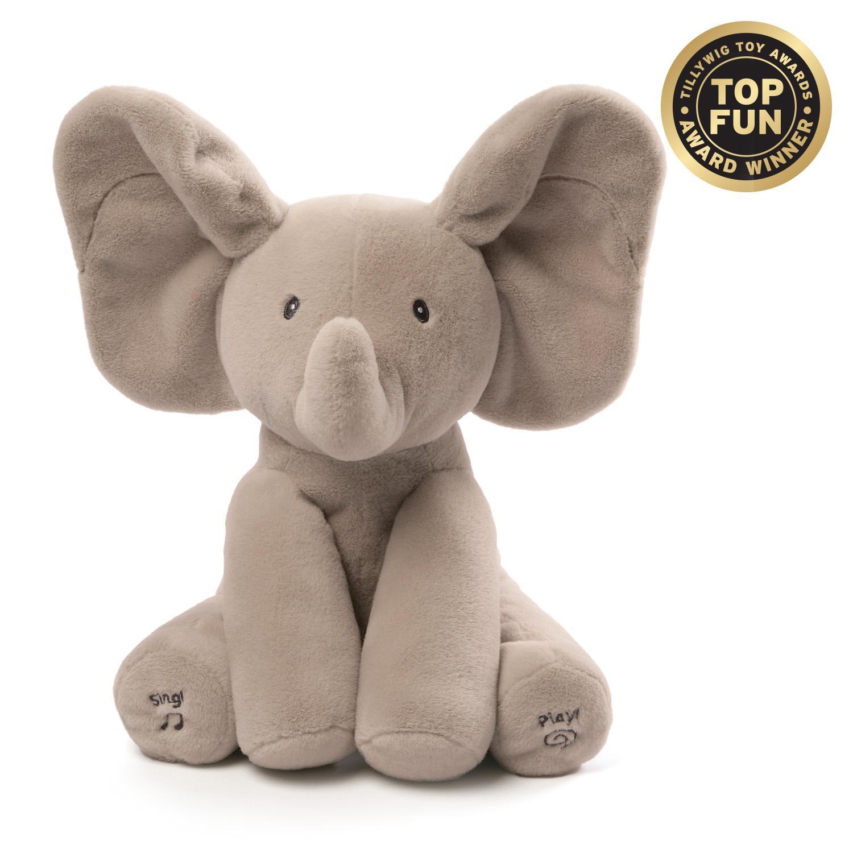 Elephant Stuffed Toy : Gund baby animated flappy the elephant plush toy ebay