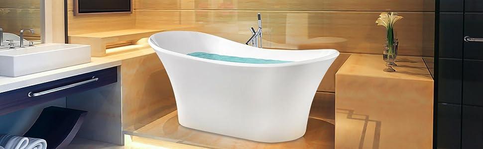 Akdy az f274 bathroom freestand acrylic bathtub white for European steel enamel bathtub