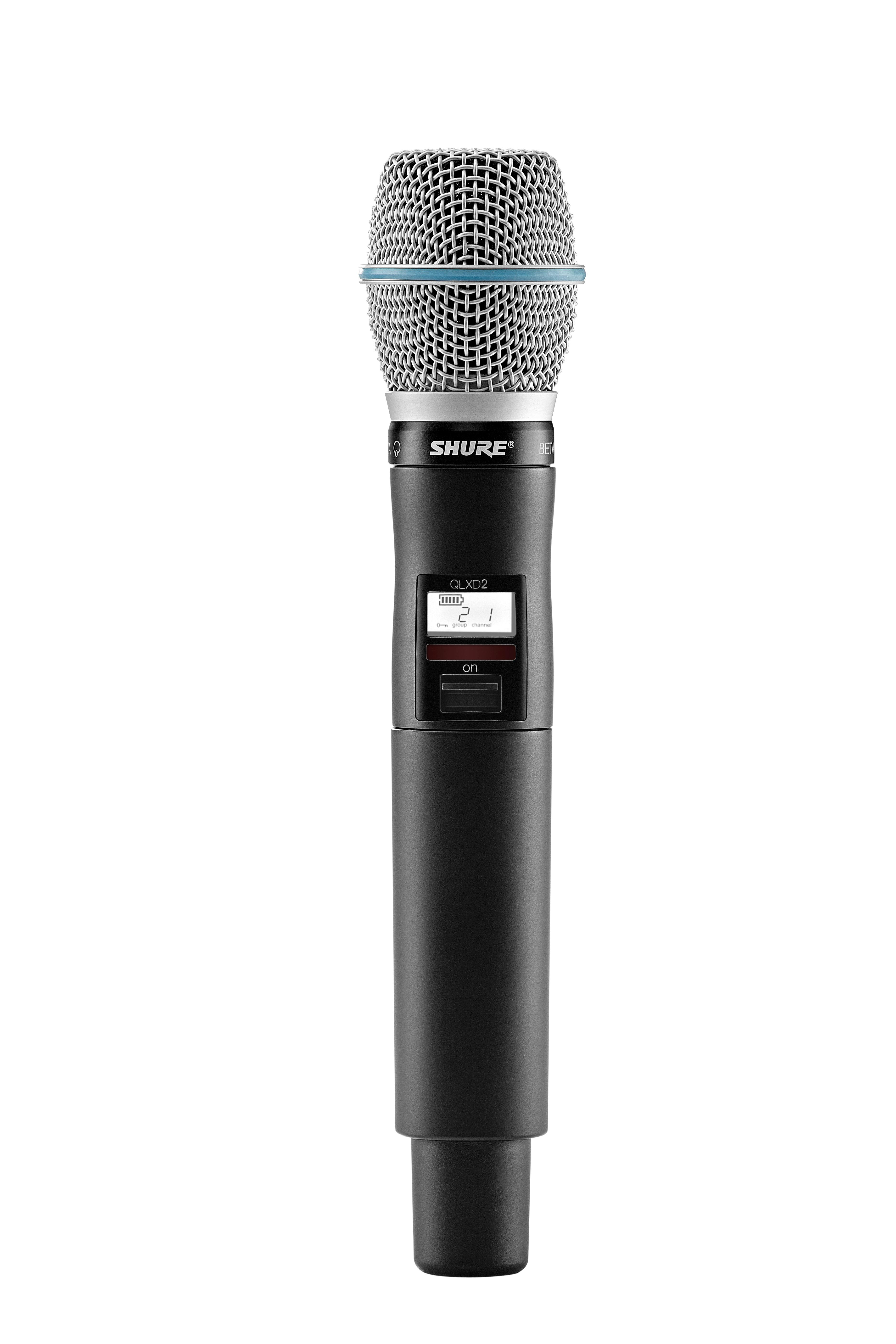 shure qlxd2 b87a handheld wireless transmitter with beta 87a microphone g50. Black Bedroom Furniture Sets. Home Design Ideas