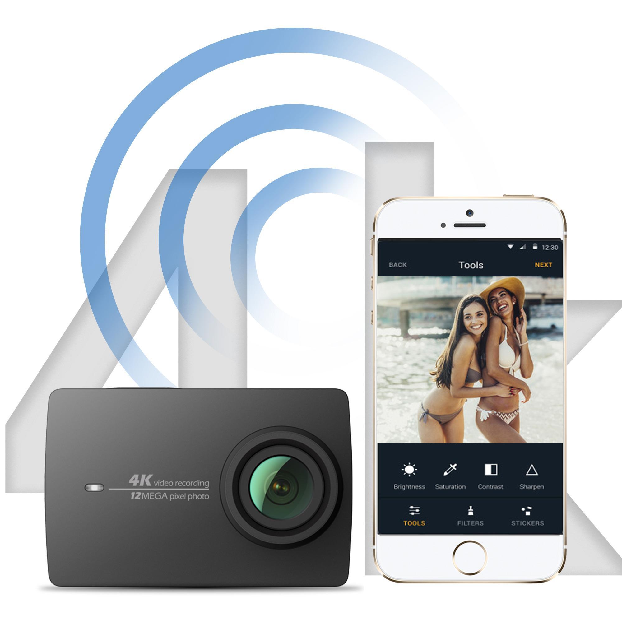 yi 4k action camera us edition night black. Black Bedroom Furniture Sets. Home Design Ideas
