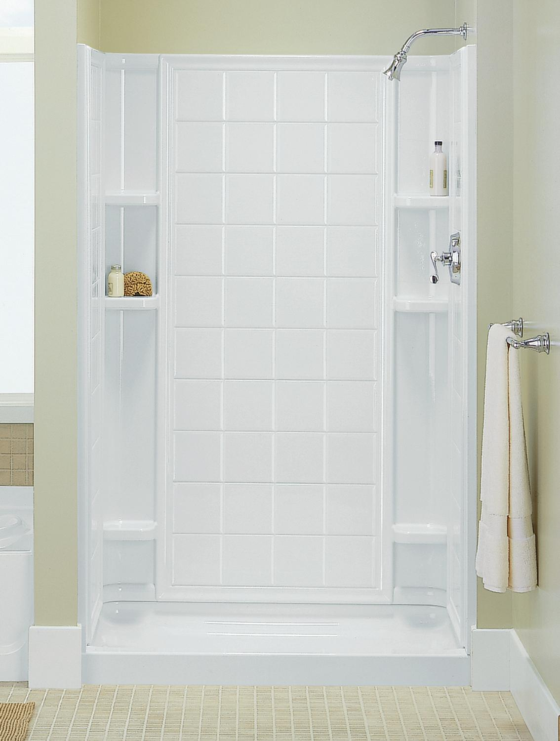 Sterling 72110100-0 Ensemble 42 Series 7211 Tile Alcove Shower, 42 ...