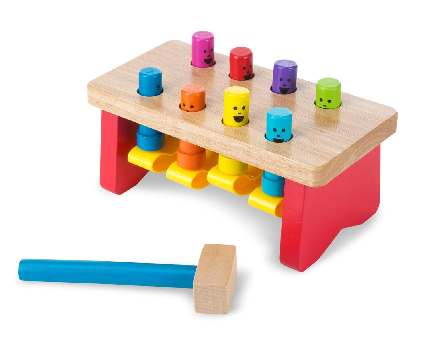 Image result for Melissa & Doug Deluxe Pounding Bench