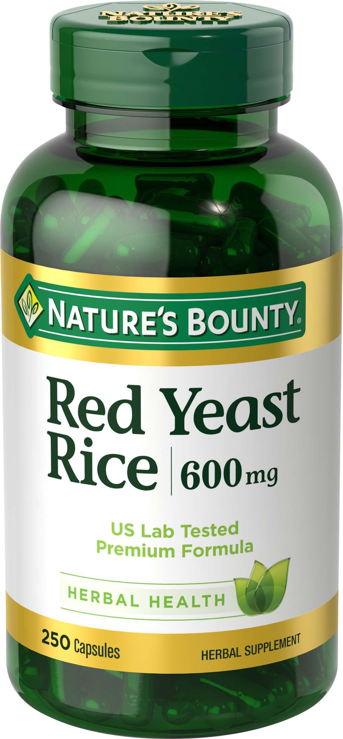 Amazon.com: Nature's Bounty Red Yeast Rice 600 mg, 250