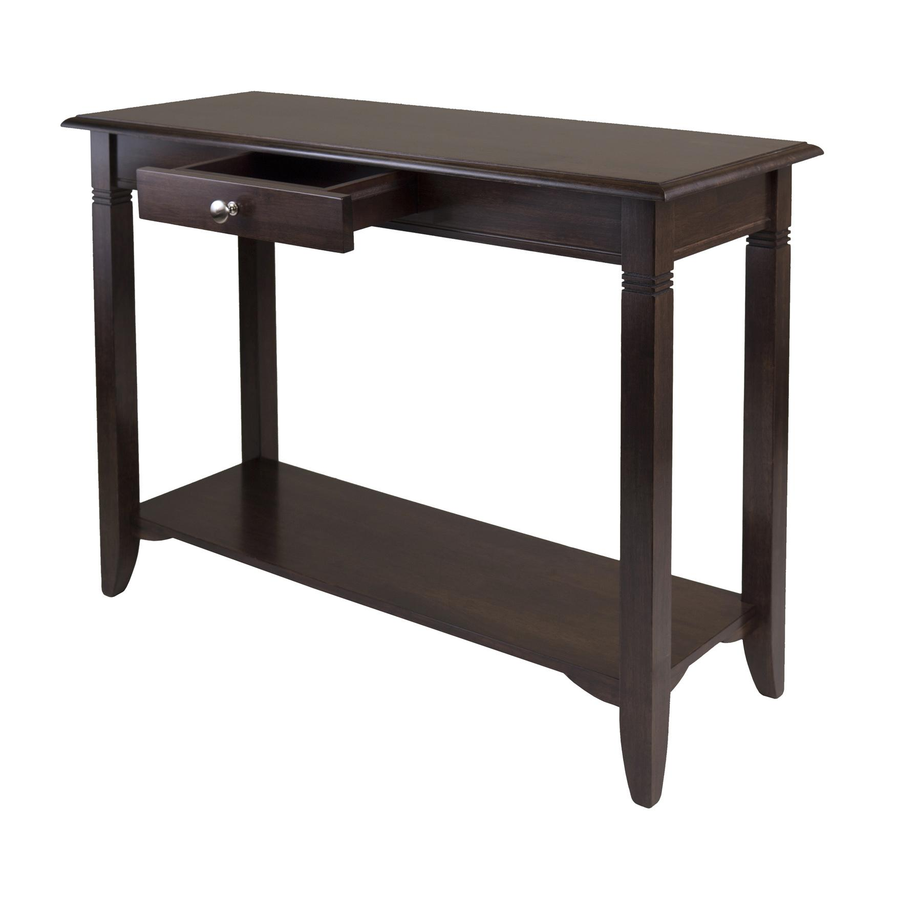 winsome nolan console table with drawer kitchen dining. Black Bedroom Furniture Sets. Home Design Ideas