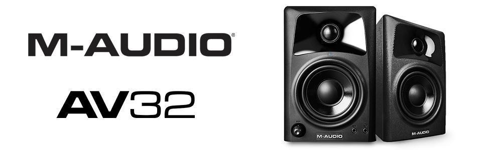 M-Audio, AV32, Studio, Monitor, Speakers
