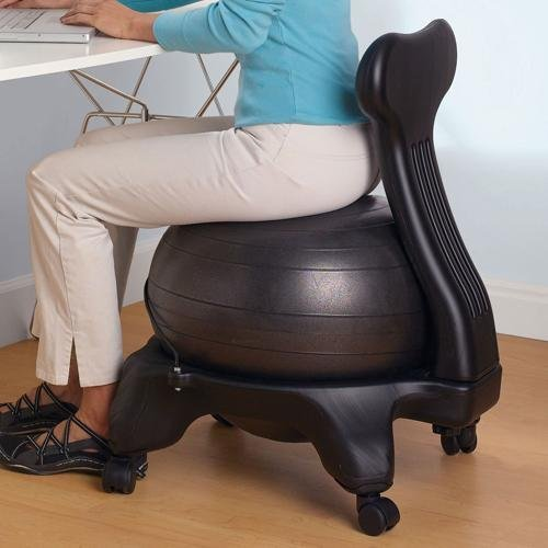 Amazon Com Gaiam Balance Ball Chair Black Exercise
