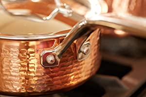 Amazon Com Lagostina Martellata Hammered Copper 18 10 Tri