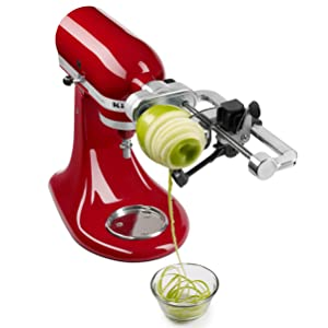how to use kitchenaid spiralizer for zucchini