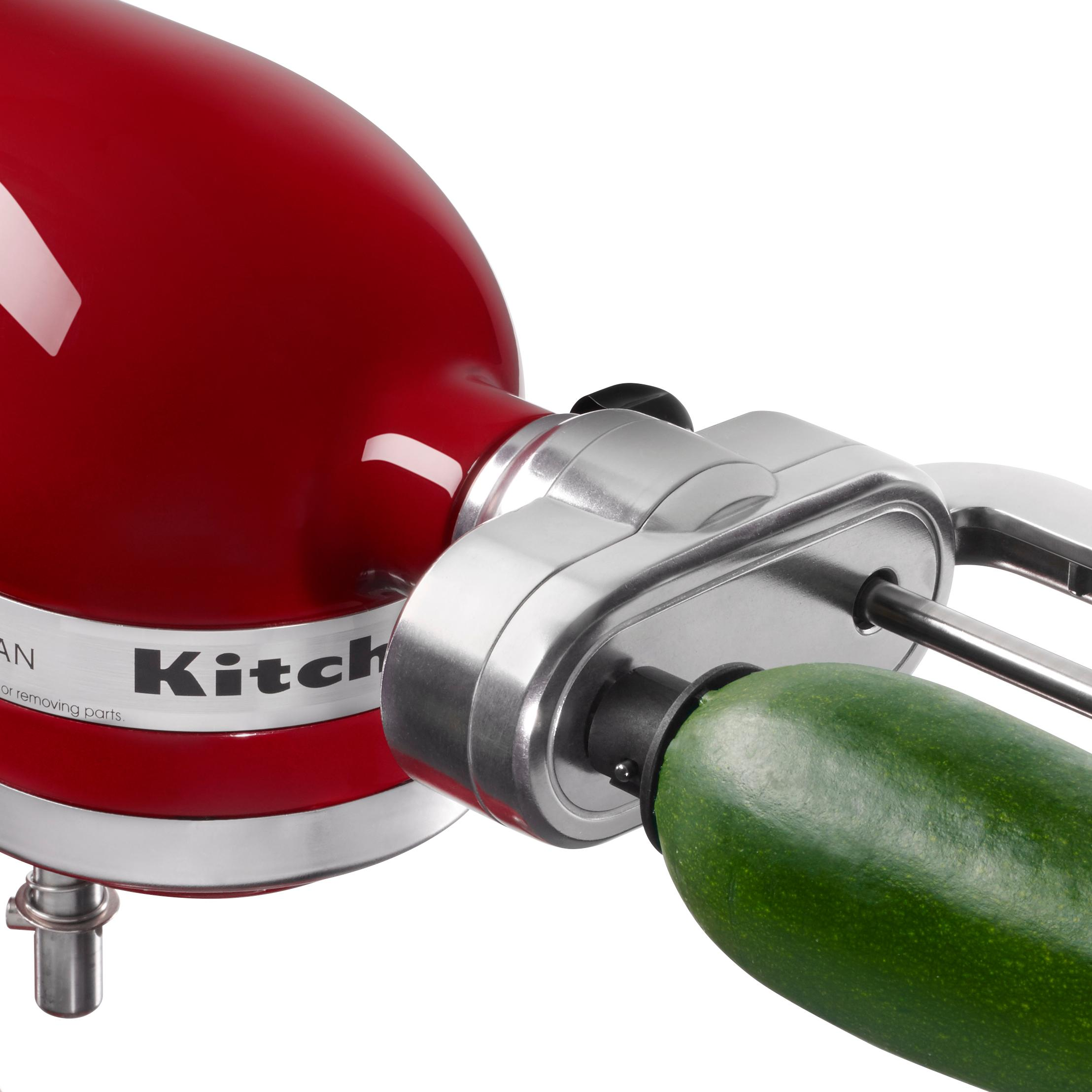 kitchenaid ksm1apc spiralizer attachment with peel core