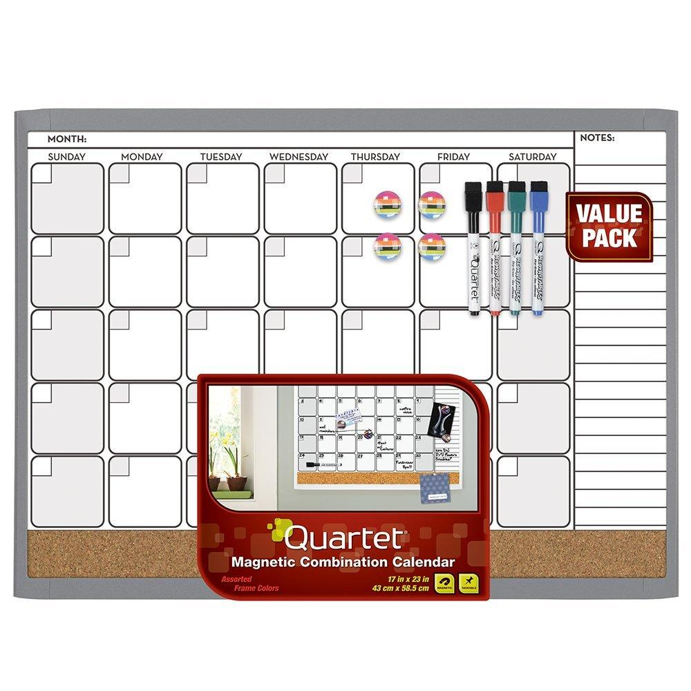 Amazon.com : Quartet Dry Erase Cork Calendar Board Combo