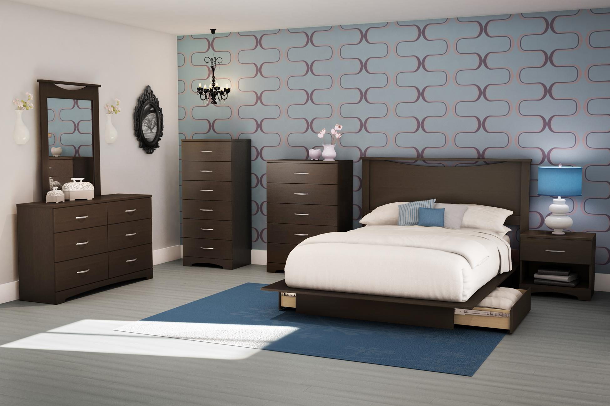 south shore furniture step one collection night table chocolate kitchen dining. Black Bedroom Furniture Sets. Home Design Ideas