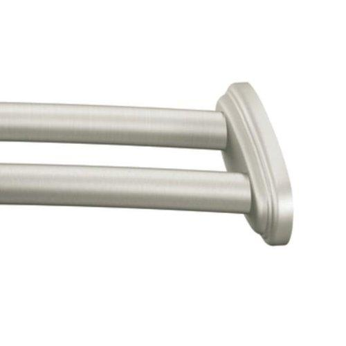 Moen Dn2141bn Adjustable Double Curved Shower Rod Brushed Nickel Home Improvement