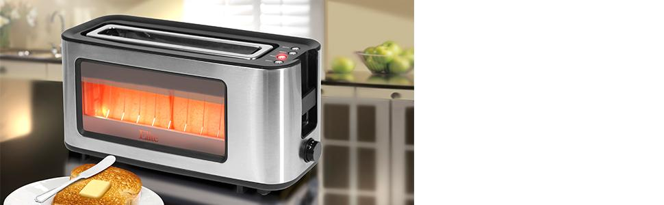 Glass Toaster 4 Slice ~ Amazon elite platinum ect maxi matic slice