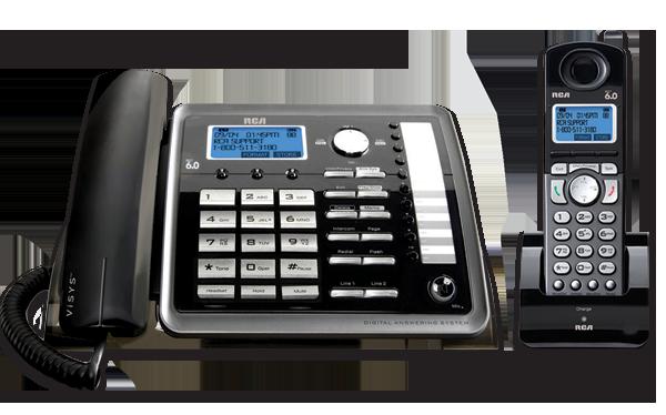 amazon com rca 25255re2 dect 6 0 2 handset 2 line landline rh amazon com rca visys manual pdf rca telephone manual visys