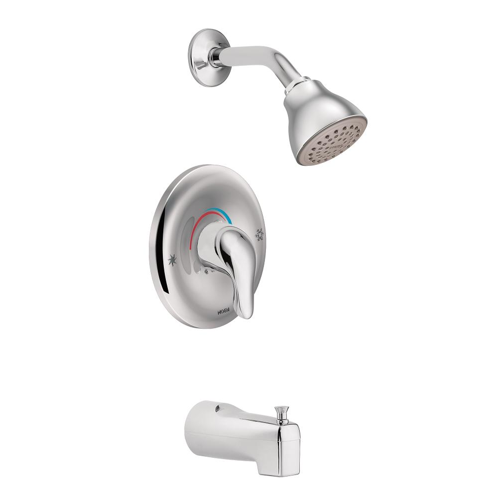 Moen L2353 Chateau Tub and Shower Faucet Set with Moen\'s PosiTemp ...