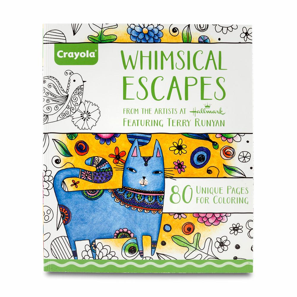 Whimsical designs coloring book - Crayola Whimsical Escapes Coloring Book Hero Image