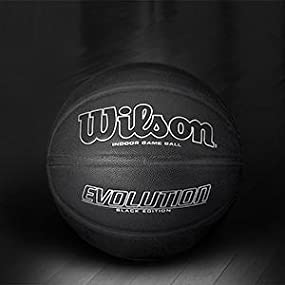 Amazon.com : Wilson Evolution Black Edition Official Basketball, Black : Sports & Outdoors