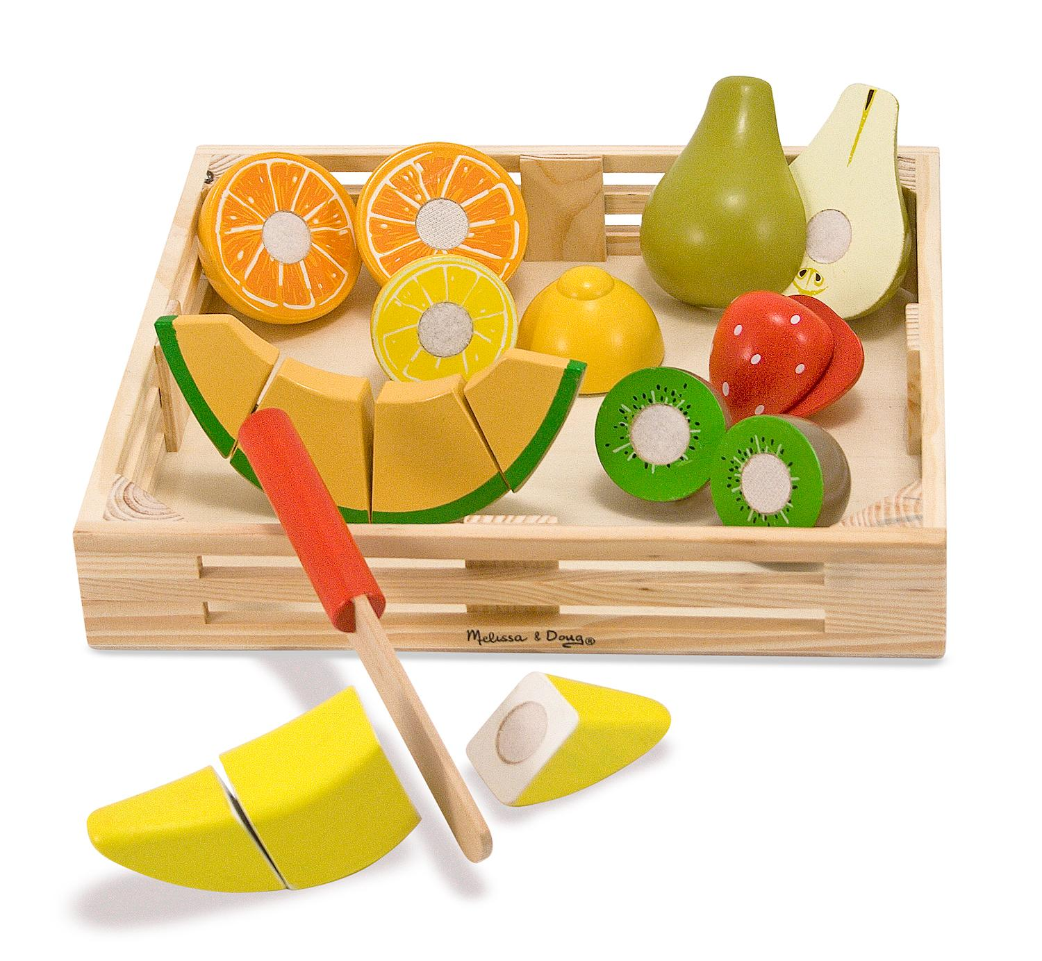 Melissa doug cutting fruit set wooden play for Kitchen set for 9 year old