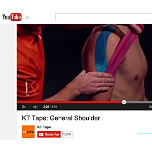 KT Tape Channel On YouTube Gives you Step-by-Step Instructions On How To Apply Kinseology Tape