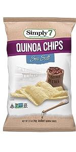 gluten free, treenut free, and peanut free, quinoa chips