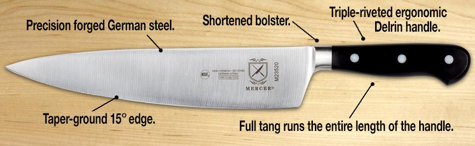 mercer renaissance knife delrin handle