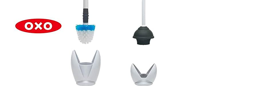 Amazon Com Oxo Good Grips Toilet Brush And Canister