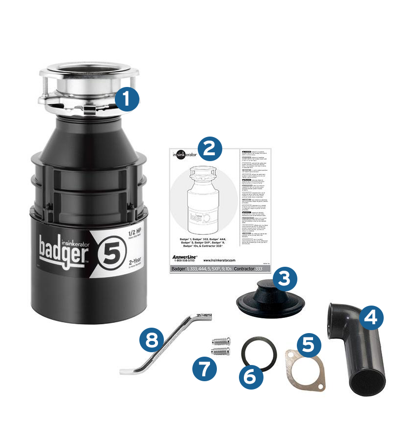 garbage disposal drain hookup This garbage disposal also features a 1/2 hp motor that rapidly grinds food waste  for easy rinsing down the drain and galvanized steel-grind components to top.